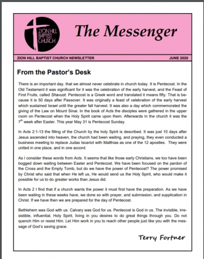 The Messenger Newsletter